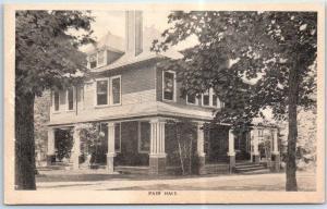 Saltsburg, PA Postcard Kiskiminetas Springs School FAIR HALL Albertype Unused