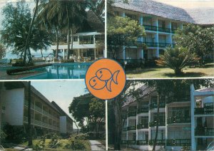 Postcard Vedere Two fishes hotel kenya butterfly stamp