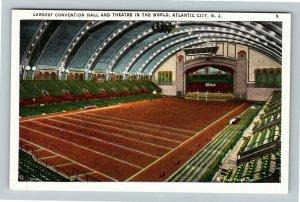 Atlantic City NJ-New Jersey Largest Convention Hall & Theatre Vintage Postcard