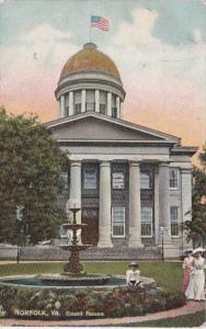 Virginia Norfolk The Court House 1910 Tucks