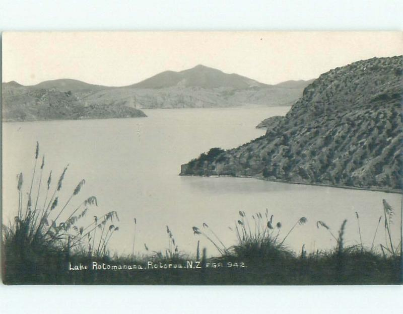 old rppc NICE VIEW Lake Rotorua New Zealand i1939