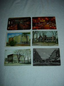 Waterville ME - Lot Of 6 Great Vintage Postcards - x0604