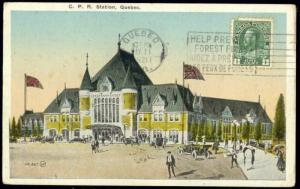 canada, QUEBEC, C.P.R. Railway Station (1921)