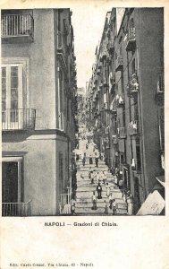 Italy Napoli Gradoni di Chiaia Postcard