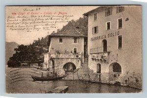 Lago di Como - Orrido di Nesso, Fabbrica Dolio Cartolina Postale Italiana