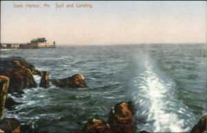 Islesboro ME Dark Harbor Surf & Landing c1910 Postcard