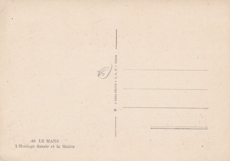 RP: Le Mans (Sarthe), France, 1930-40s ; L'Horloge florale et la Mairie