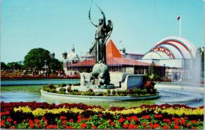 Shrine Monument CNE Toronto Ontario ON Vintage Postcard D80