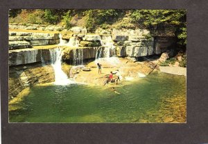 NY Finger Lakes Taughancock Falls State Park nr Ithaca New York Postcard