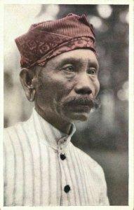 indonesia, BATOE BATU, Native Male from Nias (1930s) Mission Postcard