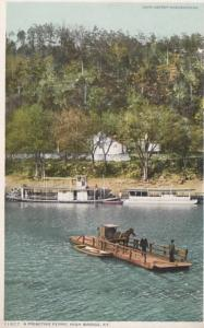 Kentucky High Bridge A Primitve Ferry Detroit Publishing