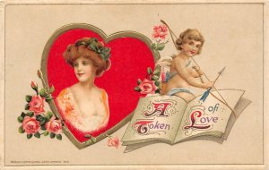 LP26 Valentine's Day Postcard Winsch Publisher A Token of Love