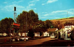 Montana Red Lodge Harley's Cottages Motel 1969