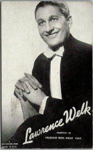 Vintage 1940s LAWRENCE WELK Mutoscope Arcade Card Band Leader TV Show