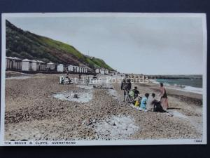 Norfolk OVERSTRAND The Beach & Cliff Postcard by Salmon 13022