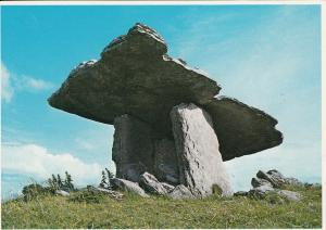 Ireland places Dolmen the Burren Clare postcard