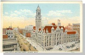 Nice Detroit, Michigan/MI Postcard, Post Office/Fort Street