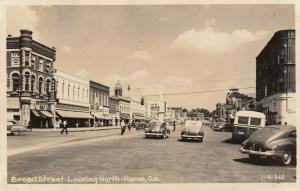 RP; ROME , Georgia , 1930-40s ; Broad Street-Looking North