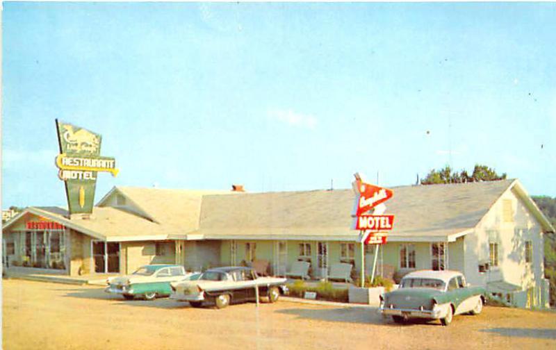 Lake Ozark Mo Drive In Restaurant Motel Old Cars Postcard Hippostcard