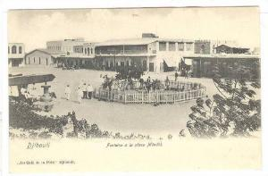 Fontaine a la place Menelik, Au Cafe de la Paix, Djibouti, Africa, 1900-1910s