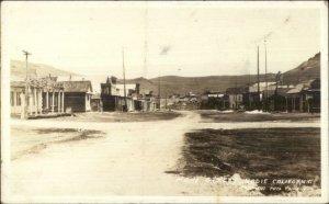 Bodie CA Main Street c1920s-30s Real Photo Postcard FRASHER'S
