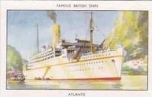 Mills Vintage Cigarette Card Famous British Ships No 14 Atlantis