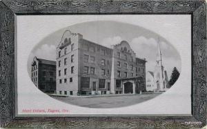 C-1910 Hotel Osburn Eugene Oregon Frame like PNC Glosso Series postcard 369