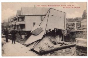 5th & Mill St., 1915 Flood Damage, Erie PA
