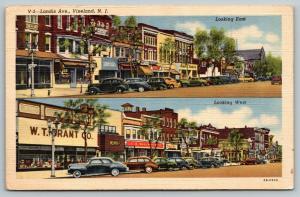 Vineland NJ~Landis Avenue~WT Grant Store~Woolworth's~Acme Market~1943 Linen PC