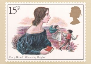 Emily Bronte Wuthering Heights Book Limited Edition Postcard