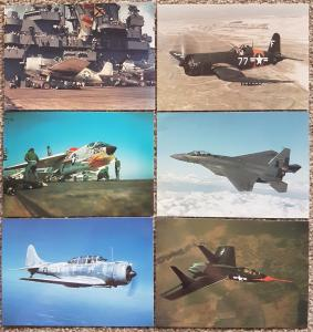 Set of 6 NEW Postcards USAF Military Aircraft Air Force by John Fry Productions