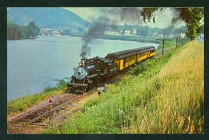 Steamtown Bellows Falls Vermont Old # 15 Engine Rahway Valley Railroad Postcard
