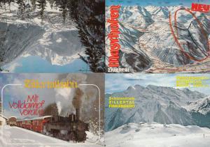 Zillertal Finkenberg Map Of Ski Slopes Train 4x Austria Postcard s