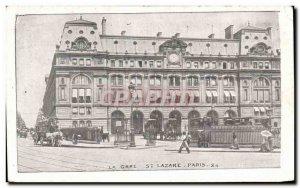 Old Postcard The Paris St Lazare station