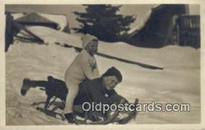 Ski, Skiing Postcard Post Card Old Vintage Antique