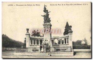 Old Postcard Lyon Monument Kids Du Rhone Entree's Head Park d & # 39Or