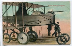 French Military Aeroplane Aircraft Plane France 1910s postcard