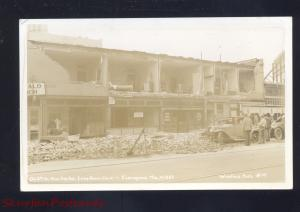 RPPC LONG BEACH CALIFORNIA 1933 EARTHQUAKE DISASTER CARS