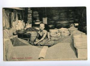 172319 CEYLON COLOMBO Rice boutique Rice shop Vintage postcard