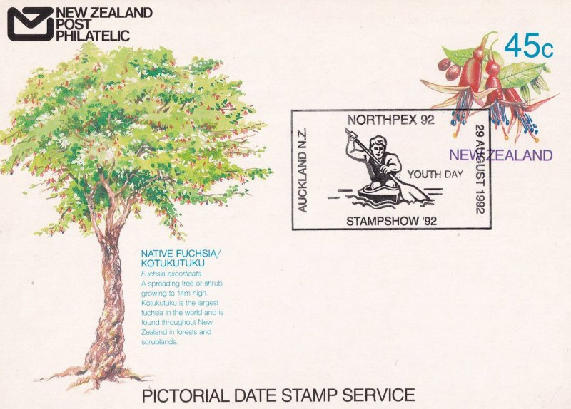 Auckland Youth Day Northpex 92 Stamp Show Rowing New Zealand FDC