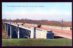 Ontario TORONTO Prince Edward Viaduct Bloor Street Postcard Canadian Series DB