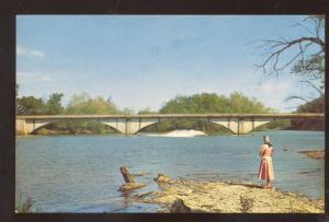 NOEL MISSOURI ELK RIVER BRIDGE VINTAGE POSTCARD MO. LAKE OF THE OZARKS