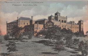 FRONT ROYAL VIRGINIA RANDOLPH MACON ACADEMY TROUT & TURNER POSTCARD 1912
