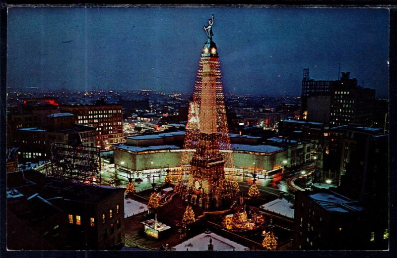 Christmas In Indianapolis.World S Tallest Christmas Tree Soldiers Sailors Monument