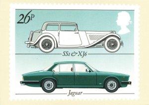 PHQ Stamp Postcard Special FDI No.63c 60 Years of Jaguar Cars Coventry KJ2