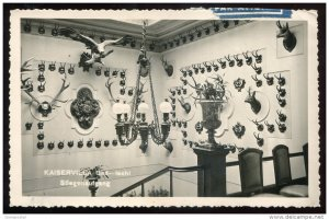 812 - AUSTRIA Bad Ischl 1960 Kaiservilla. Stiegensufgang. Hunting. Antlers RPPC