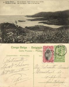 belgian congo, MOBIMBI, Bay Scene Lake Kivu Crater (1920s) Postcard (18)
