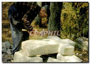 Postcard Modern Breizh On The Way From The Cross Piker Maen stonecutter