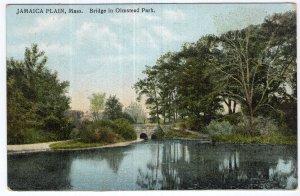 Jamaica Plain, Mass, Bridge in Olmstead Park
