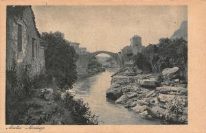 Bosnia and Herzegovina Mostar Partial View river creek Arch